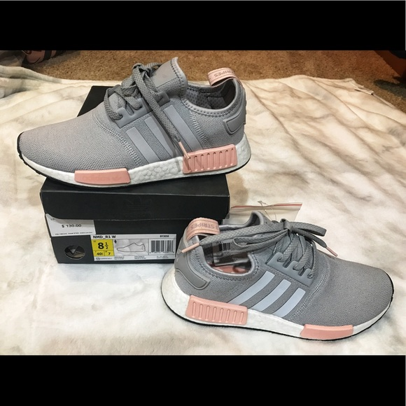 443cbf2685faa New in box Adidas nmd r1 grey pink 8 1 2 women s